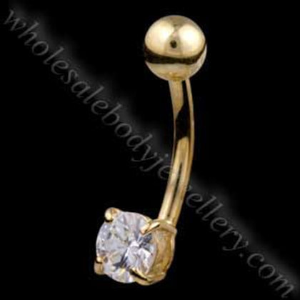 9ct Small Round Belly Bar (9N09)
