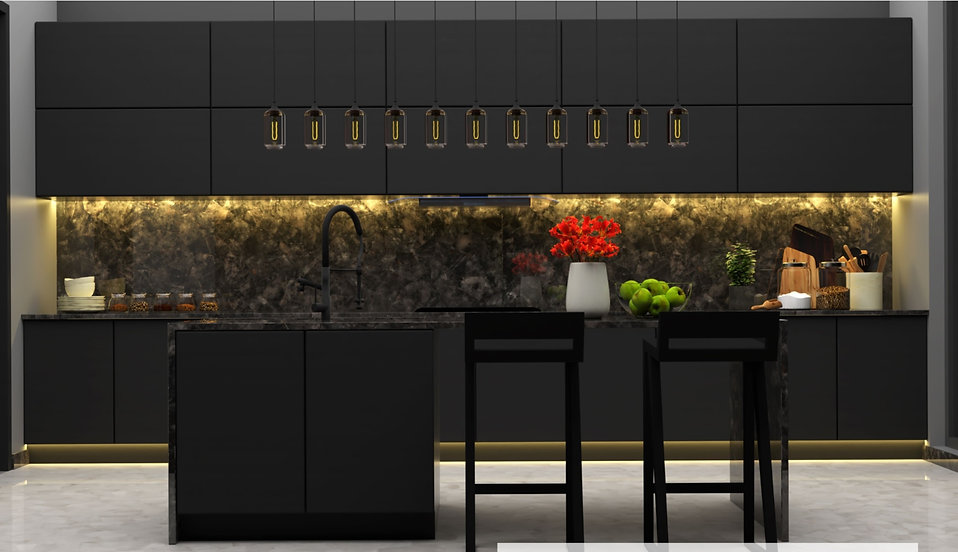 Installed kitchen using serengeti mosaic