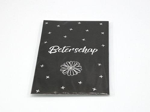 4 x Scent Sachet Greeting Cards 'Beterschap'