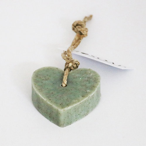 'I Love Soap' 5 x soap hearts 'Natural Olive'