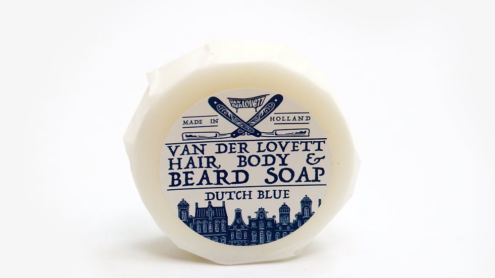 Hair, Body and Beard Shampoo Bar 'Dutch Blue'