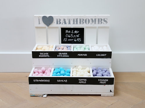Complete 'Pick and Mix' display mini bath bombs version 2