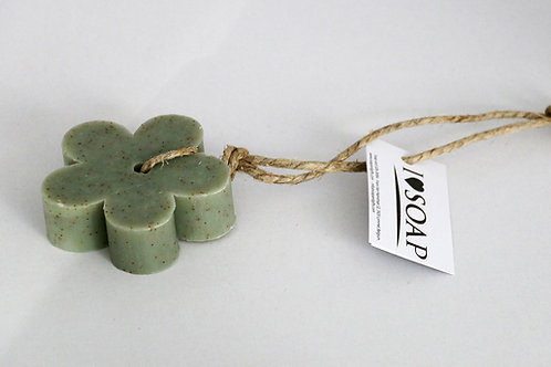 'I Love Soap' 5 x flower soaps 'Natural Olive'