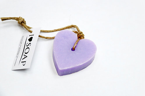 'I Love Soap' 5 x soap hearts 'Lavender Fields'