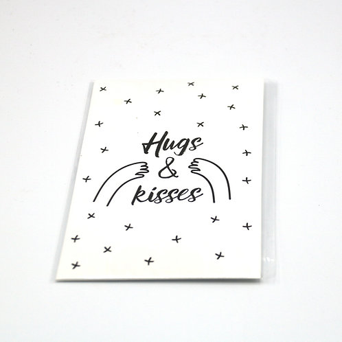 4 x Scent Sachet Greeting Cards 'Hugs and Kisses'