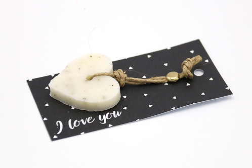 6 x Soap Greeting Tags 'I Love You'