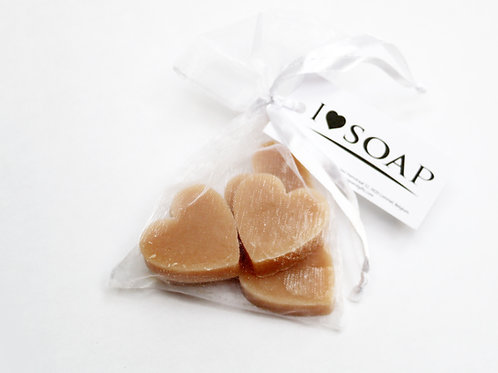 'I Love Soap' 5 x bags soap hearts 'Sweet Vanilla'