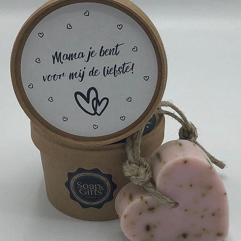 5 x Doosje Vol Hartzeep 'Mama jij bent voor mij de liefste'