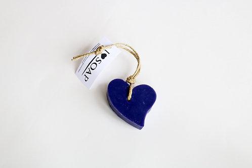 'I Love Soap' Ibiza 5 x Heart soaps 'Purple Dreams'