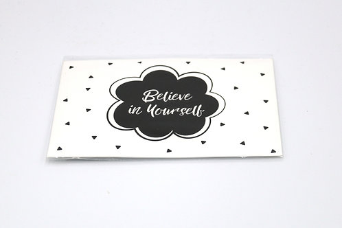 4 x Scent Sachet Greeting Cards 'Believe in Yourself'