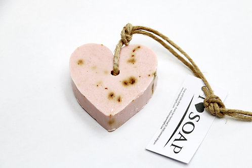 'I Love Soap' 5 x soap hearts 'Wild Roses'