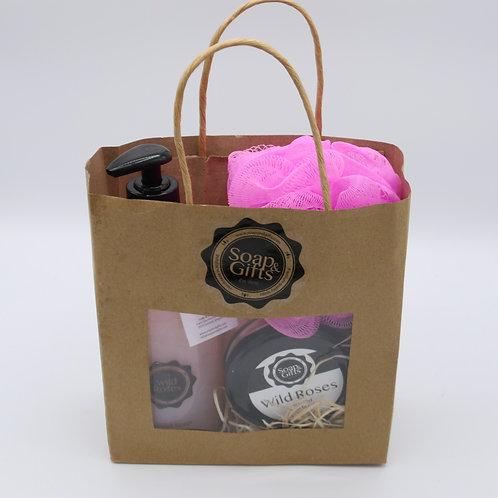 3 x gift bags de luxe 'Wild Roses'