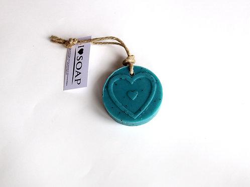 'I Love Soap' 5 x soap heart mandela 'Italian Spring'