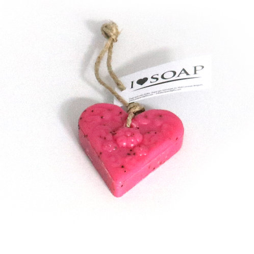 'I Love Soap' Winter 5 x heart soaps 'Pink Forest'