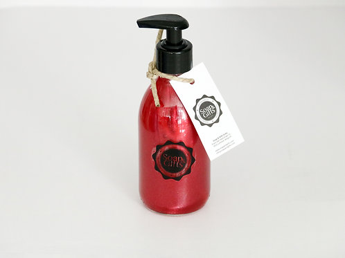 5 x glass bottles of hand soap Red Cinnamon (5 x 240 ml)