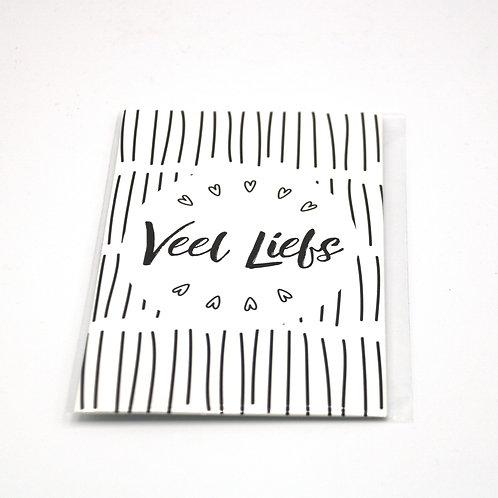 4 x Scent Sachet Greeting Cards 'Veel Liefs'