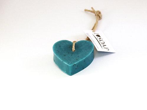 'I Love Soap' 5 x soap hearts 'Italian Spring'