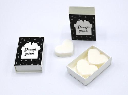 6 x Boxes Doosje Vol Zeep 'Doosje Geluk'