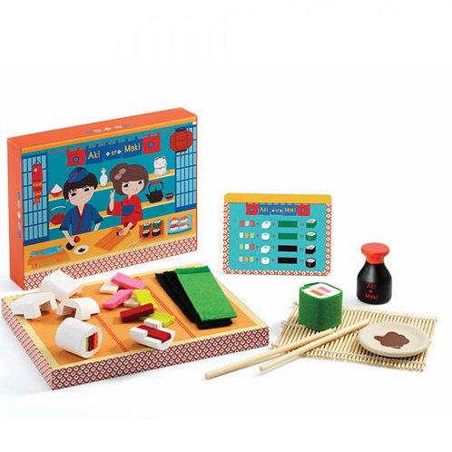 Aki et Maki houten sushi set