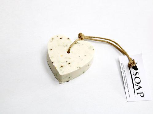 'I Love Soap' 5 x soap hearts 'Clean Cotton'