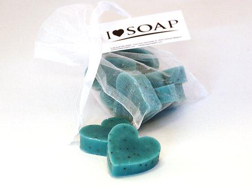 'I Love Soap' 5x bags soap hearts 'Italian Spring'