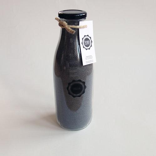 4 x bottles salt scrub Black