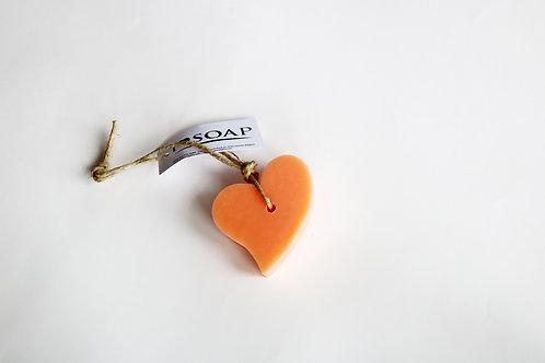 'I Love Soap' Ibiza 5 x Heart soaps 'Wild Flowers'
