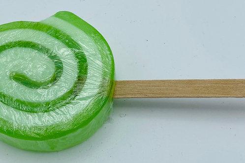 6 x Soap Lollipops Lemon and Lime (green)