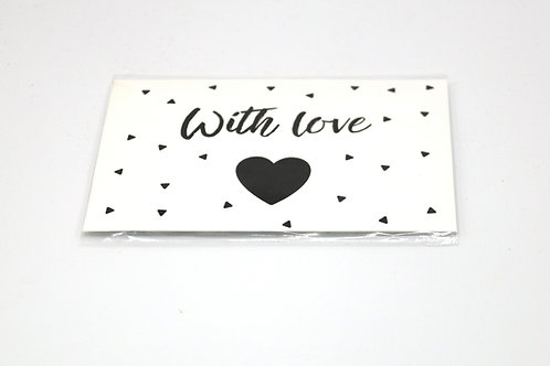 4 x Scent Sachet Greeting Cards 'With Love'
