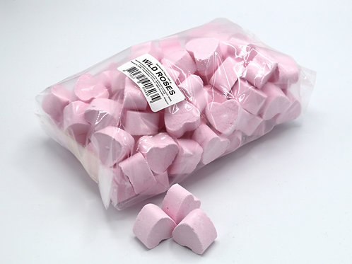 1 kg bag of mini bath bomb hearts 'Wild Roses'
