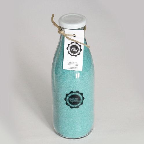4 x bottles salt scrub 'Italian Spring'