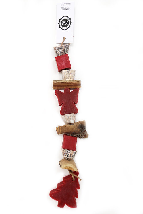 5 x Christmas rope soap chains 'Red Cinnamon'