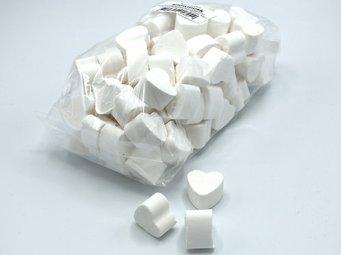 1 kg bag of mini bath bomb hearts 'Snow Musk'