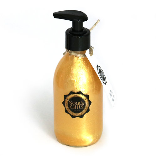 5 x glass bottles of hand soap Gold (5 x 240 ml)