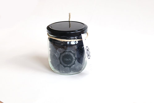 4 x pots of mini hand soaps Black