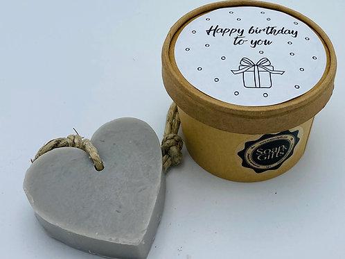 5 x Doosje Vol Hartzeep 'Happy Birthday To You'