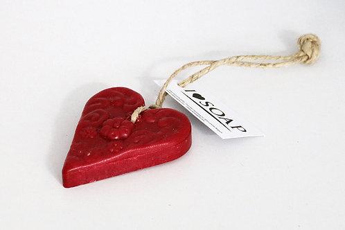 'I Love Soap' Winter 5 x heart soaps 'Red Cinnamon'