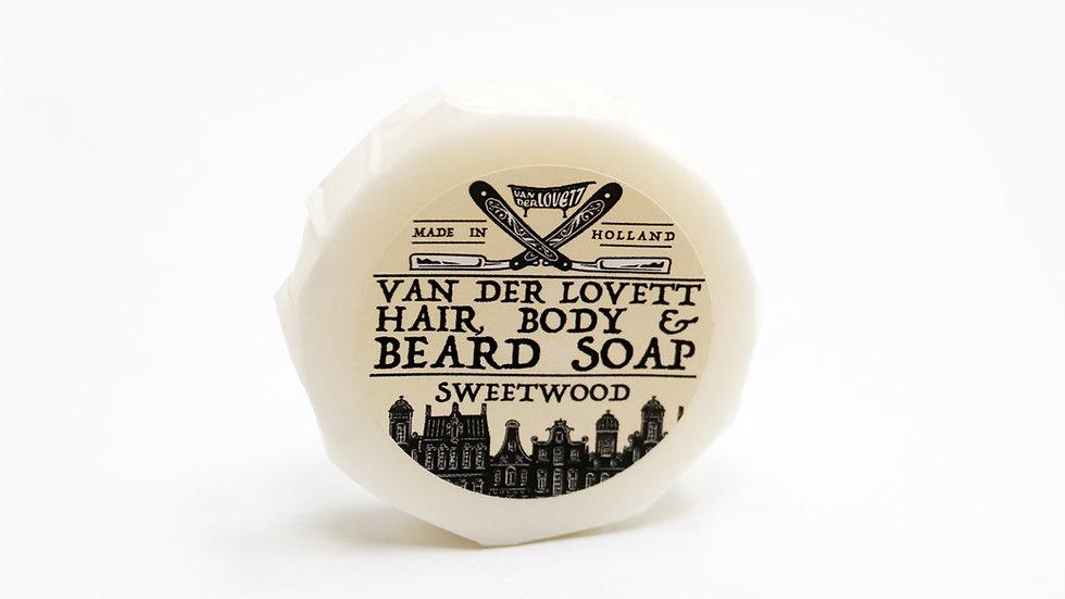 Hair, Body and Beard Shampoo Bar 'Sweetwood'