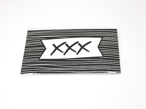 4 x Scent Sachet Greeting Cards 'XXX'