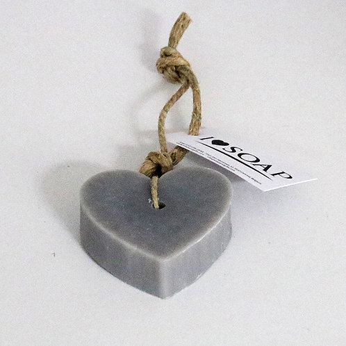 'I Love Soap' 5 x soap hearts Grey