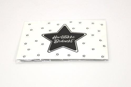 4 x Scent Sachet Greeting Cards 'Hartstikke Bedankt'