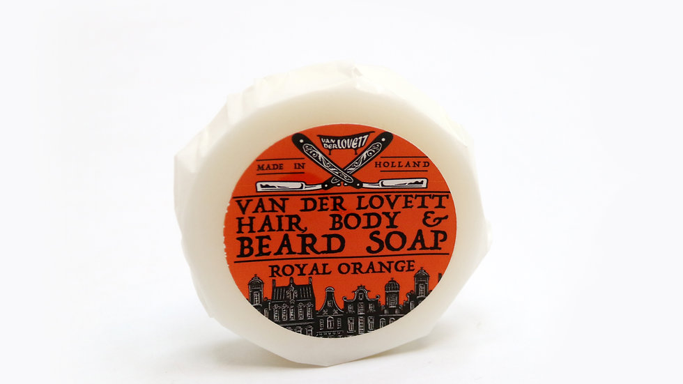 Hair, Body and Beard Shampoo Bar 'Royal Orange'