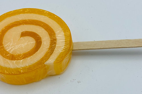 6 x Soap Lollipops Mandarin (orange)