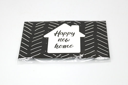 4 x Scent Sachet Greeting Cards 'Happy New Home'