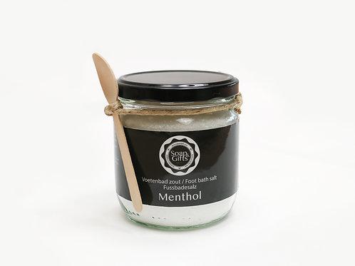 4 x pots of foot bath salts 'Menthol'