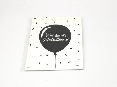 4 x Scent Sachet Greeting Cards 'Van Harte Gefeliciteerd'