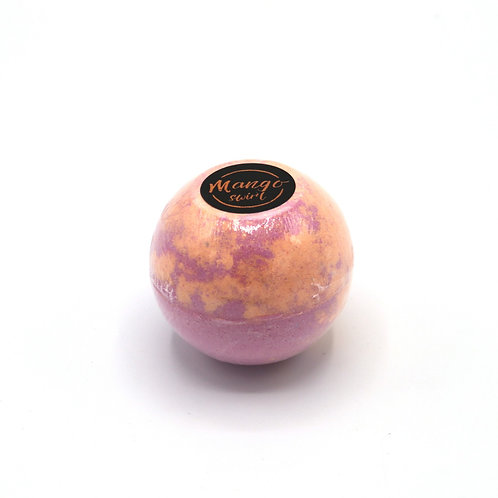 Large Bath Bombs Mango Swirl