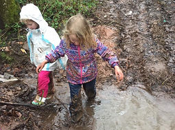kids love getting wet and dirty