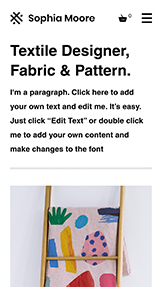 Design website templates – Textile Designer