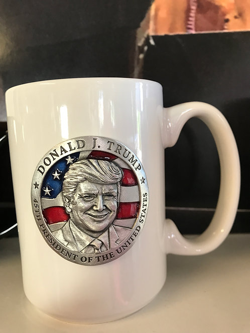 Heritage Pewter Trump Coffee Mug